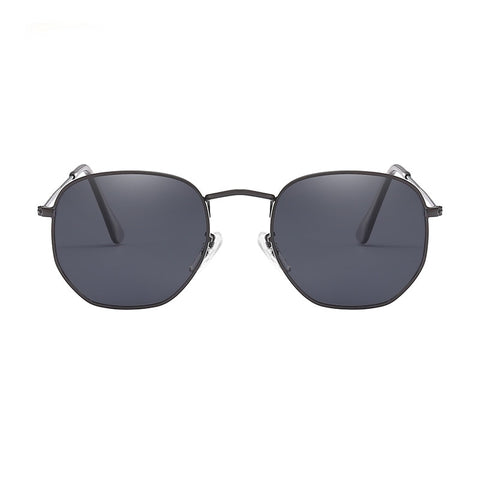 Retro Hexagon Design Vintage Driving Unisex Sunglasses