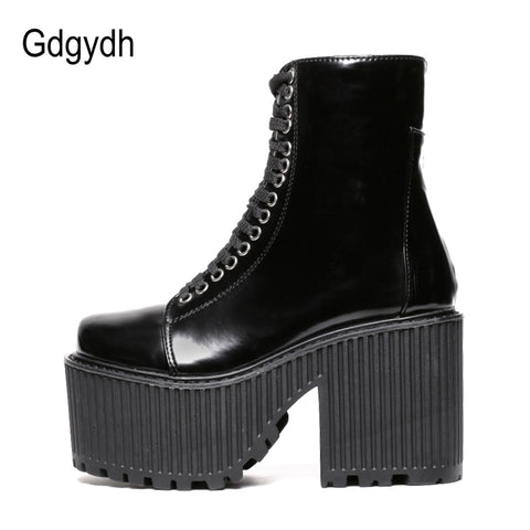 Fashion Punk Gothic Style Ankle Boots Platform Shoes