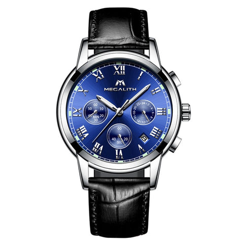Waterproof Stainless Steel Analogue Men's Wristwatch