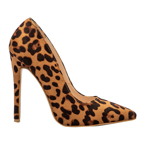 High Heels Leopard Print Pointed Toe Pumps