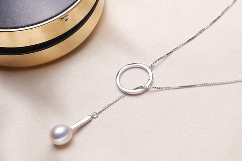 Natural Freshwater Pearl Silver Pendant
