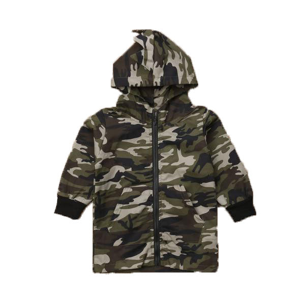 Camouflage Pattern Full Sleeve Dinosaur Zipper Jacket