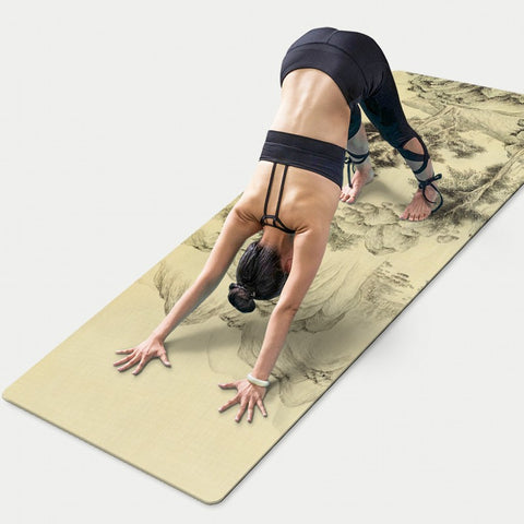 Anti-Slip Landscape Printed Ultra Thin Yoga Mats for Exercise