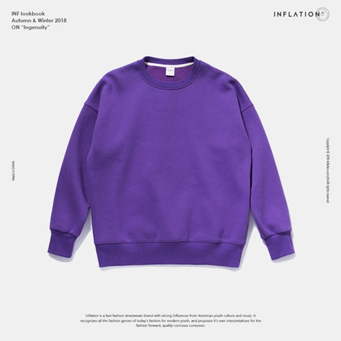 Winter Long Sleeve O-Neck Cotton Unisex Casual Sweatshirts