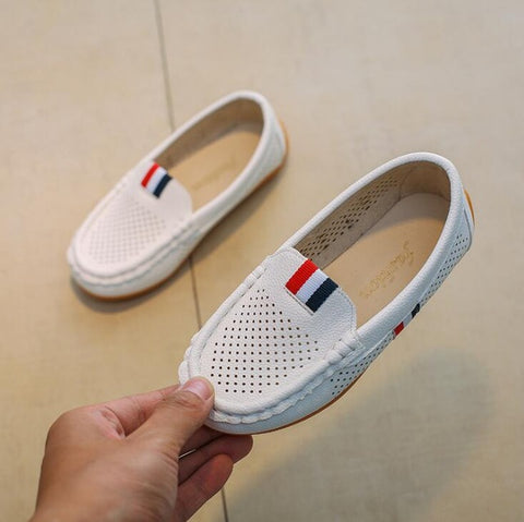 Kids Casual Leather Soft Breathable Loafers
