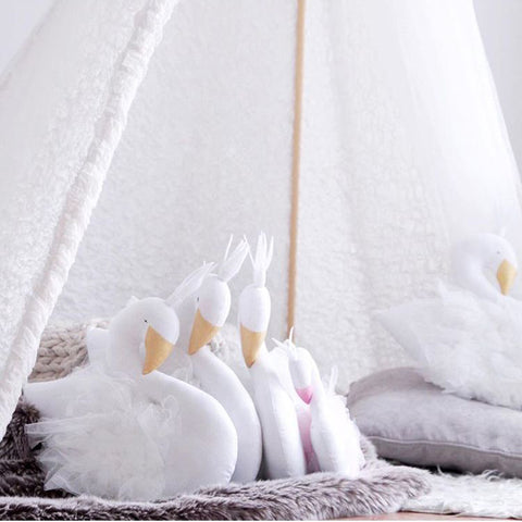 Baby Pillow Swan Crown Gauze Bed Room Decoration Toys