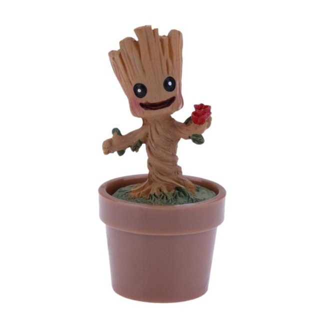 Baby Groot Flowerpot Action Figure Toys
