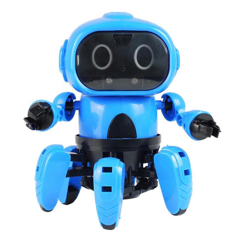 Blue Color Assembly Electric Intelligent Robot Toys