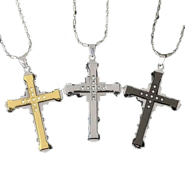 Stainless Steel Cross Men Pendant
