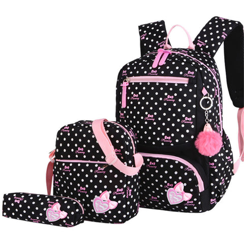 Printed School Student Lovely Backpack (3pcs/set)