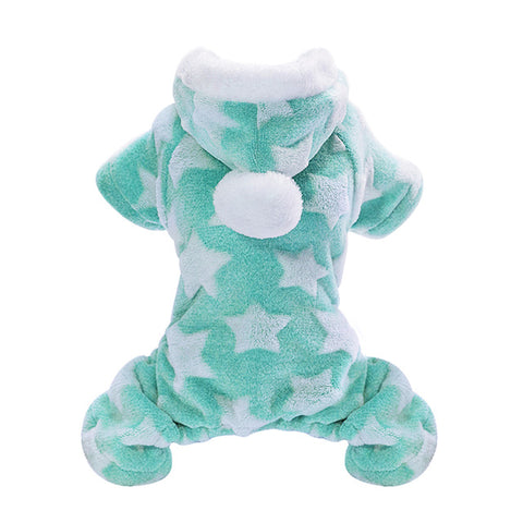 Winter Soft Fleece Pets Jumpsuit Hooded
