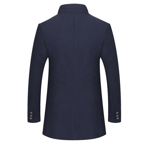 Casual Slim Fit Long Nylon Large Size Overcoat