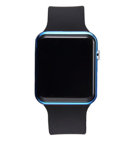 Casual Rubber Strap LED Digital Wrist Watch for Men