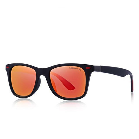 Classic Retro Rivet Square Shaped UV Polarized Sunglasses