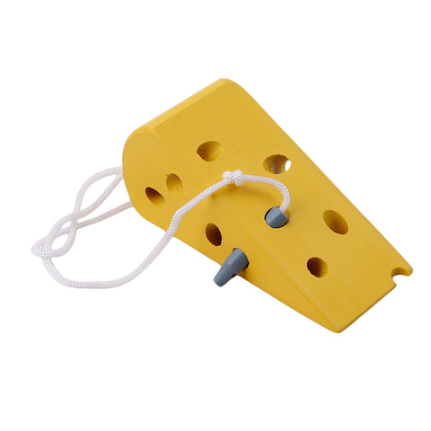 Wooden Kindergarten Mouse Cheese Thread Baby Toys