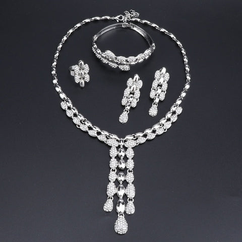 Wedding Bridal Rhinestone Jewelry Sets