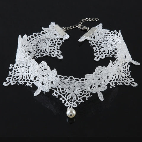 Black Lace Vintage Women's Gothic Choker Necklace