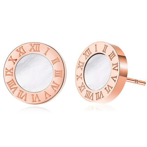 Acrylic Fashion Roman Numerals Stud Earrings
