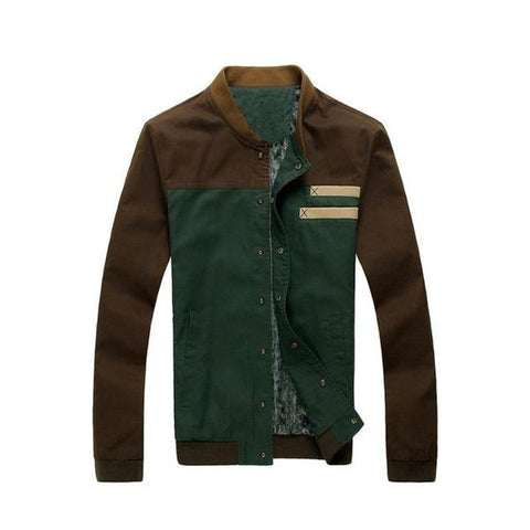 Casual Patchwork Autumn Wear Jacket for Man