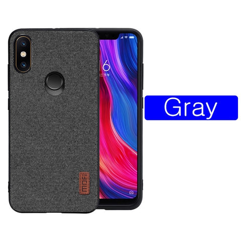 Silicone Fabric Shockproof Back Case Cover Xiaomi Mi8