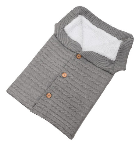 Warm Soft Footmuff Cotton Knitting Envelope Sleeping Bag