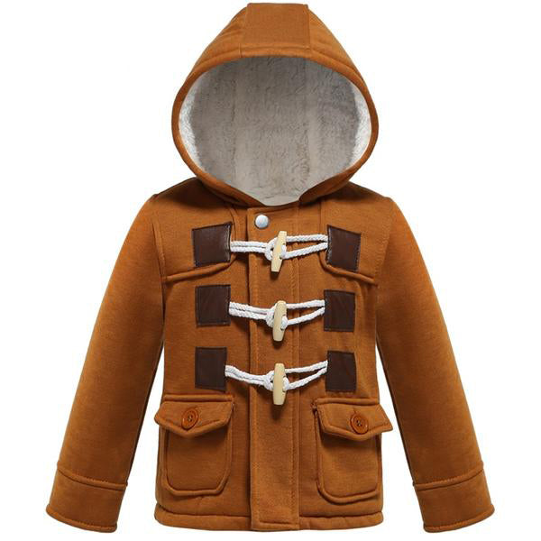 Thick Warm Hooded Fleece Infant/Boys  Jackets