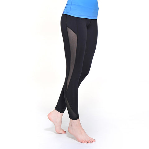 Sports Tight Elastic High Waist Slim Mesh Fittness Gym Treggings