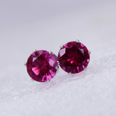 Simple Crystal Crown Stud Earring