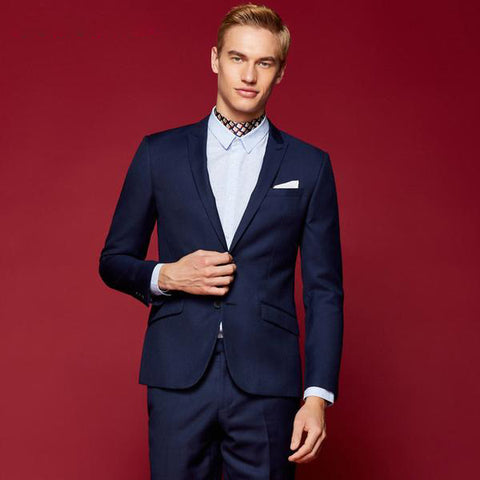 Casual Slim Fit Long Sleeve Business Blazer