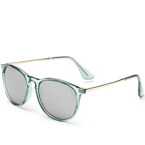 Retro Style Colored Shades Round Sunglasses