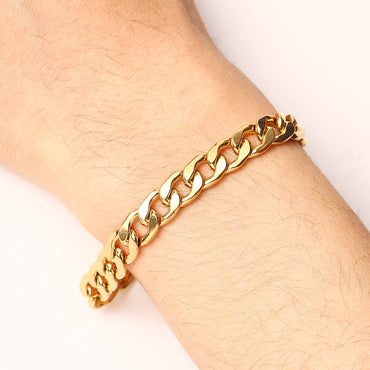 Gold Silver Color Stainless Steel Chain Bracelets For Men