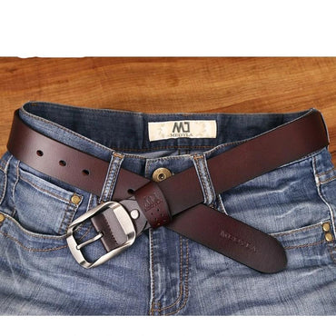 Casual Genuine Leather Luxury Strap Pin Buckle Male Belts