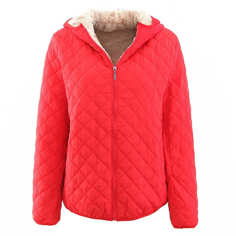 Winter Long Sleeve Stand Collar Women Loose Parkas Jackets Coat