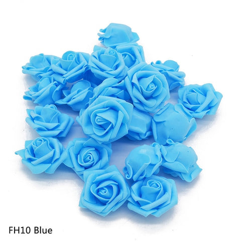 Flower Head 20pcs/lot Handmade Artificial PE Foam Roses For Decoration
