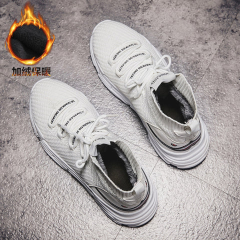 Winter Warm Top Breathable Casual Flats Platform Sneakers Shoes