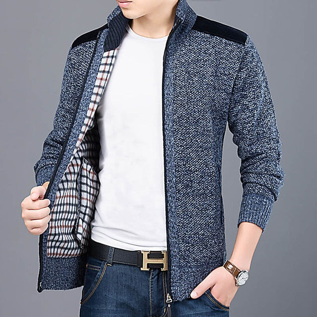 Winter Casual Warm Slim Fit Men Cardigan