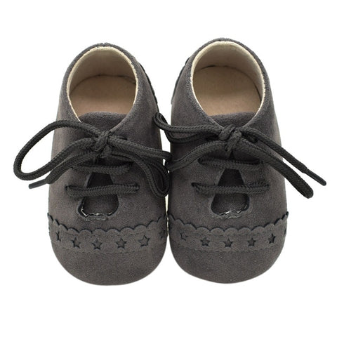 Soft Nubuck Anti Slip Newborn Baby Moccasins Canvas Shoes
