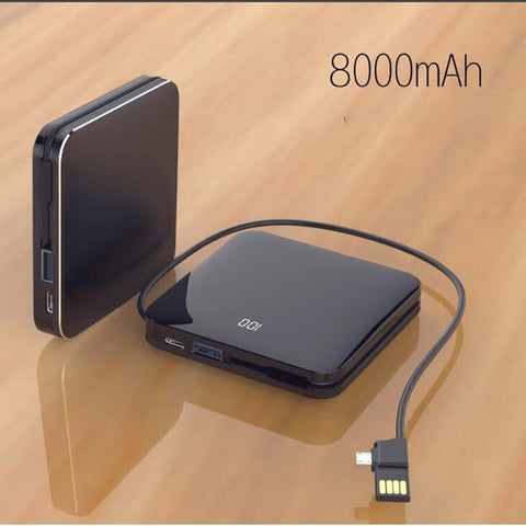 Thin Mirror Wireless Mini 8000 mAh Portable Power Bank