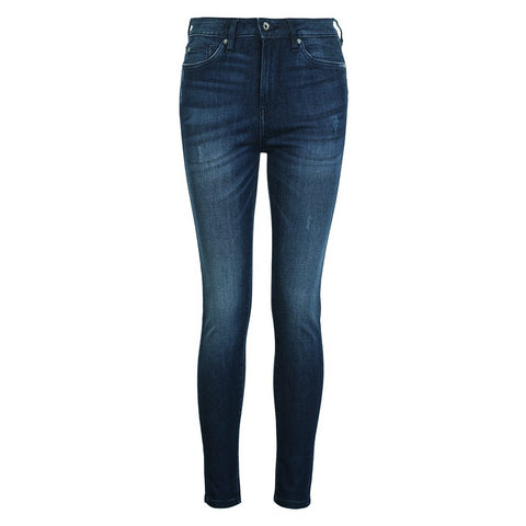 Slight Stretch High Waist Pencil Fit Leisure Denim Jeans