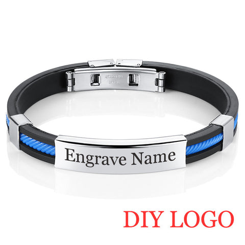 Rubber ID  Customized Logo Couple Bracelets