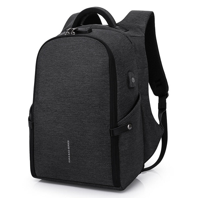 Anti-Theft Waterproof USB Charging Unisex Laptop Bag