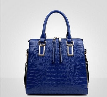 High Quality Luxury Designer Crocodile Pattern Shoulder Handbag