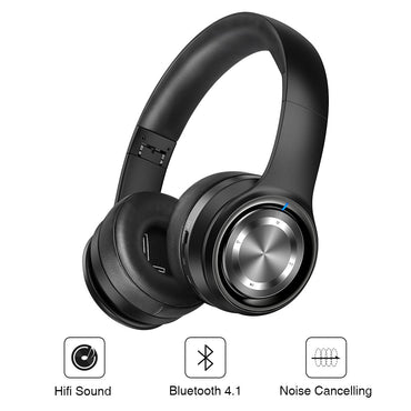 New Wireless Bluetooth Over Ear Headband Headphone with Mic