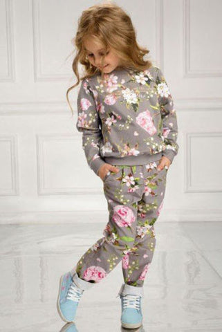Casual Comfortable Warm Cotton Girl's Tracksuit