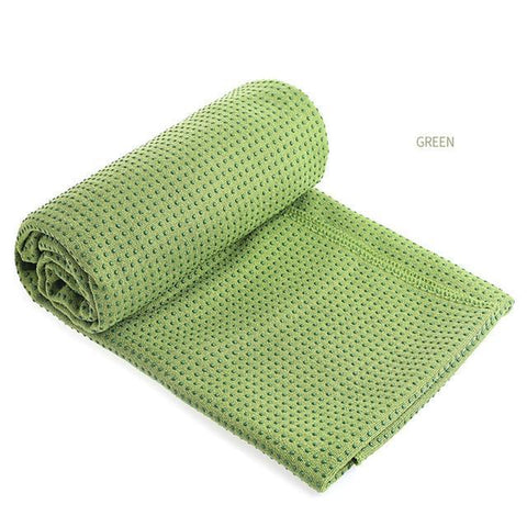 Non-Slip Checkered Yoga Mats Blanket with Bag