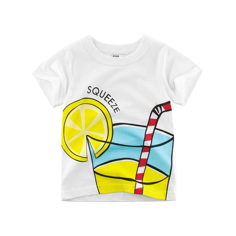 Casual Summer Short Sleeve Cartoon Printed T-Shirts