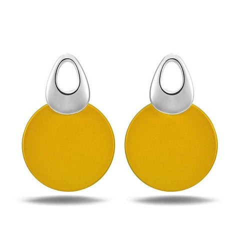 Trendy Round Dangle Women Earrings