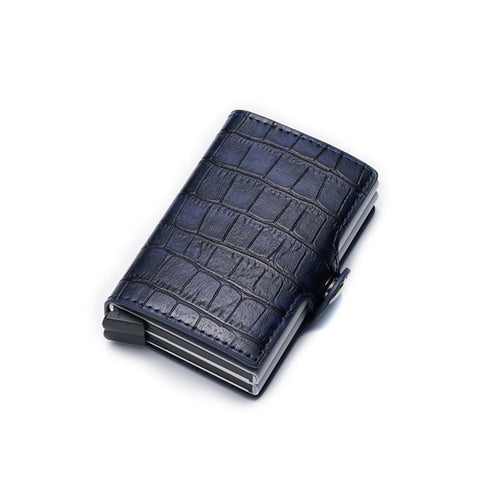 New PU Leather Vintage Aluminium Travel Credit Card Holder Wallet