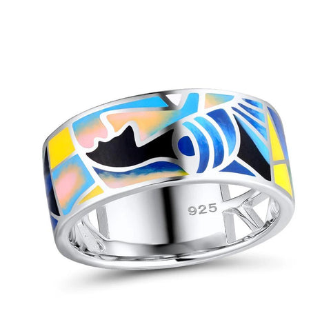 "Colorful Sterling Silver ""Lord of the Ring"" Rings"