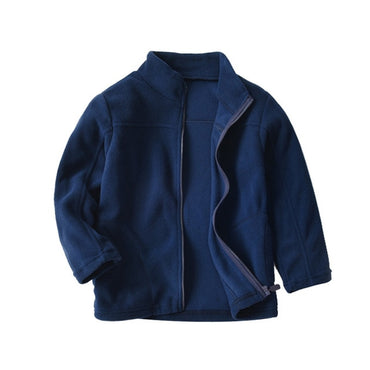 Casual Polar Fleece Full Sleeve Navy Coat